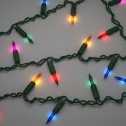 Струны рождественские огни 3d model