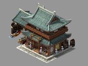 Song-dynastin-East City-Ceramic Shop 3d model