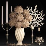 Decoração com flores secas 3d model
