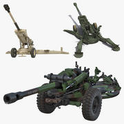 Kolekcja modeli 3D haubic 3d model