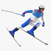 Modello 3D generico di posa veloce dello sciatore 3d model