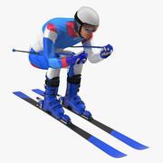 Glid ner skidåkaren Generiskt 3d model
