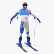 Atomic Ski Equipment 3D Model 3d model