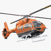 Airbus Helicopters H145 z wnętrzem 3d model