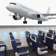 Airbus A320neo con interior genérico modelo 3d