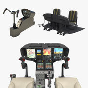 Helicopter Control Panels Collection 2 3d model