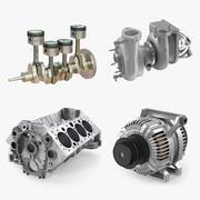 Motor Parçaları Koleksiyonu 3d model