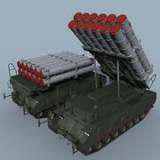 SA-17 Buk-M3 TEL modelo 3d