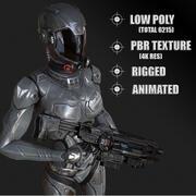 Femmina di fantascienza 3d model
