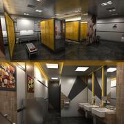 洗手间和更衣室 3d model