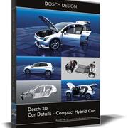 Dosch 3D - Szczegóły samochodu - Kompaktowy samochód hybrydowy 3d model
