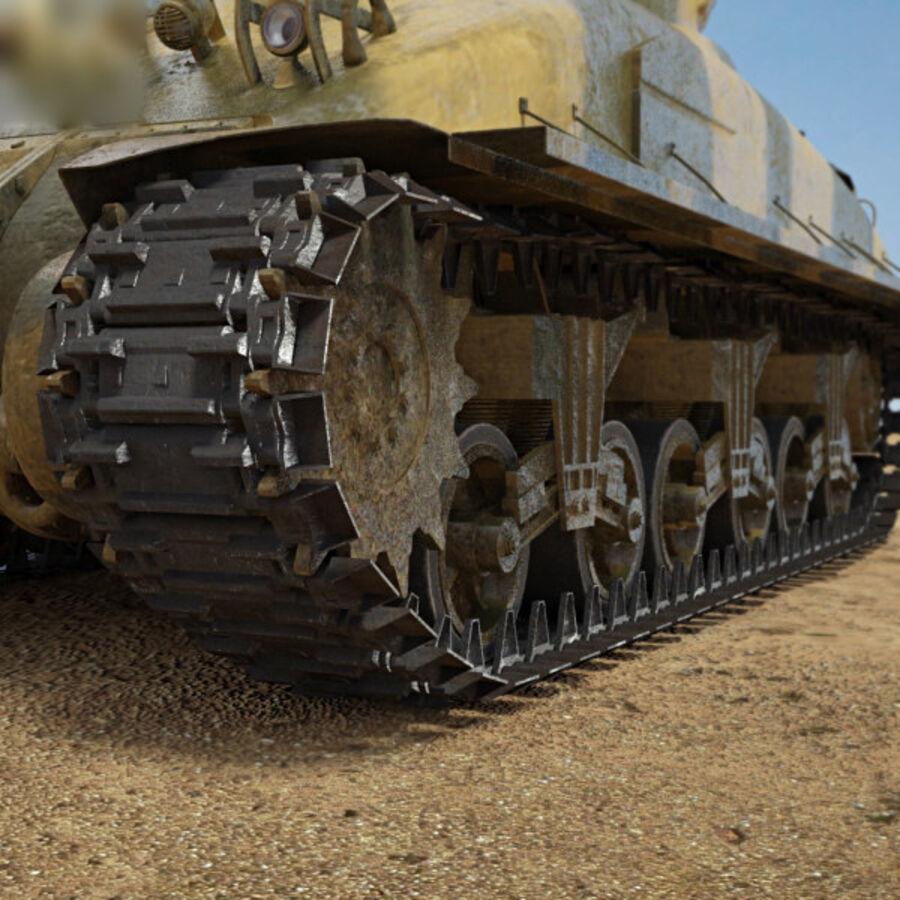 M4A1 Sherman royalty-free 3d model - Preview no. 8