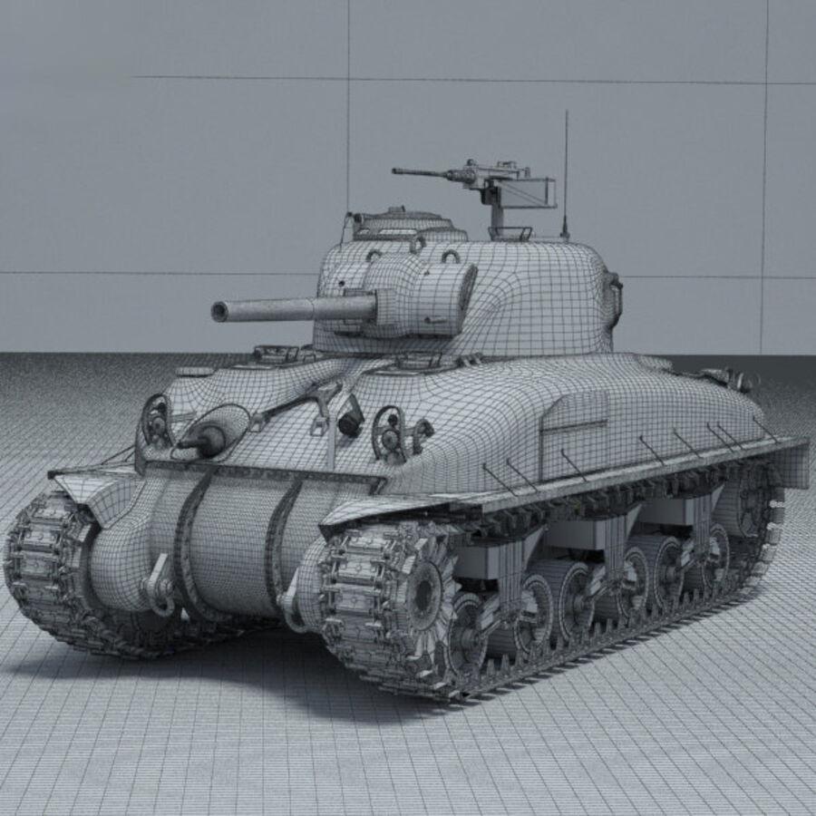 M4A1 Sherman royalty-free 3d model - Preview no. 3
