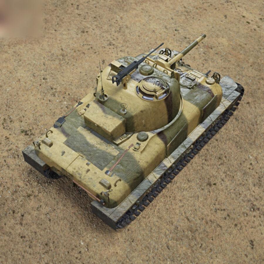M4A1 Sherman royalty-free 3d model - Preview no. 9