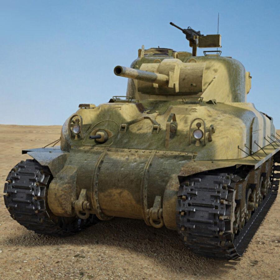 M4A1 Sherman royalty-free 3d model - Preview no. 6