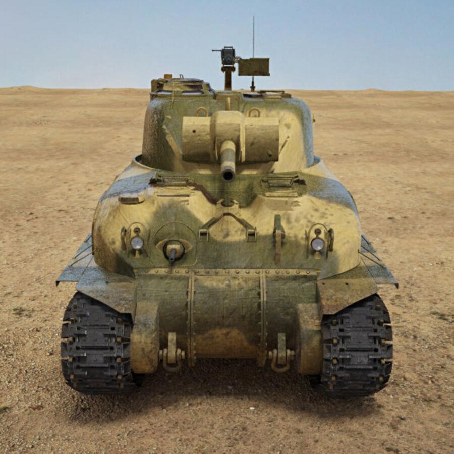 M4A1 Sherman royalty-free 3d model - Preview no. 10