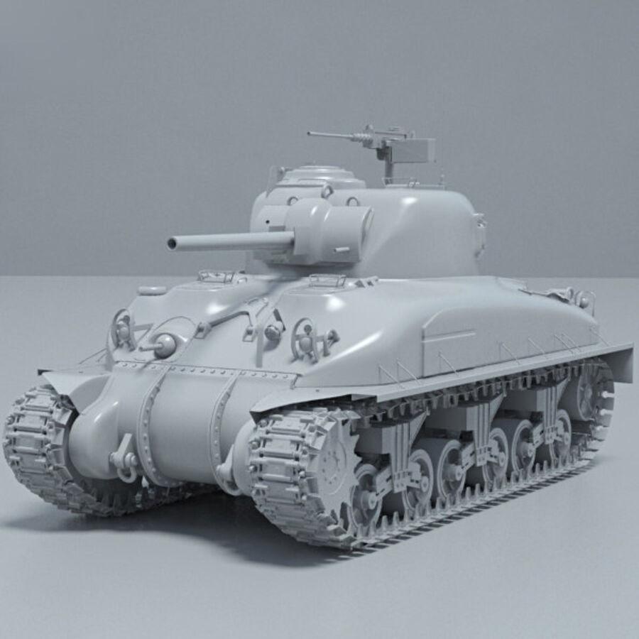 M4A1 Sherman royalty-free 3d model - Preview no. 11