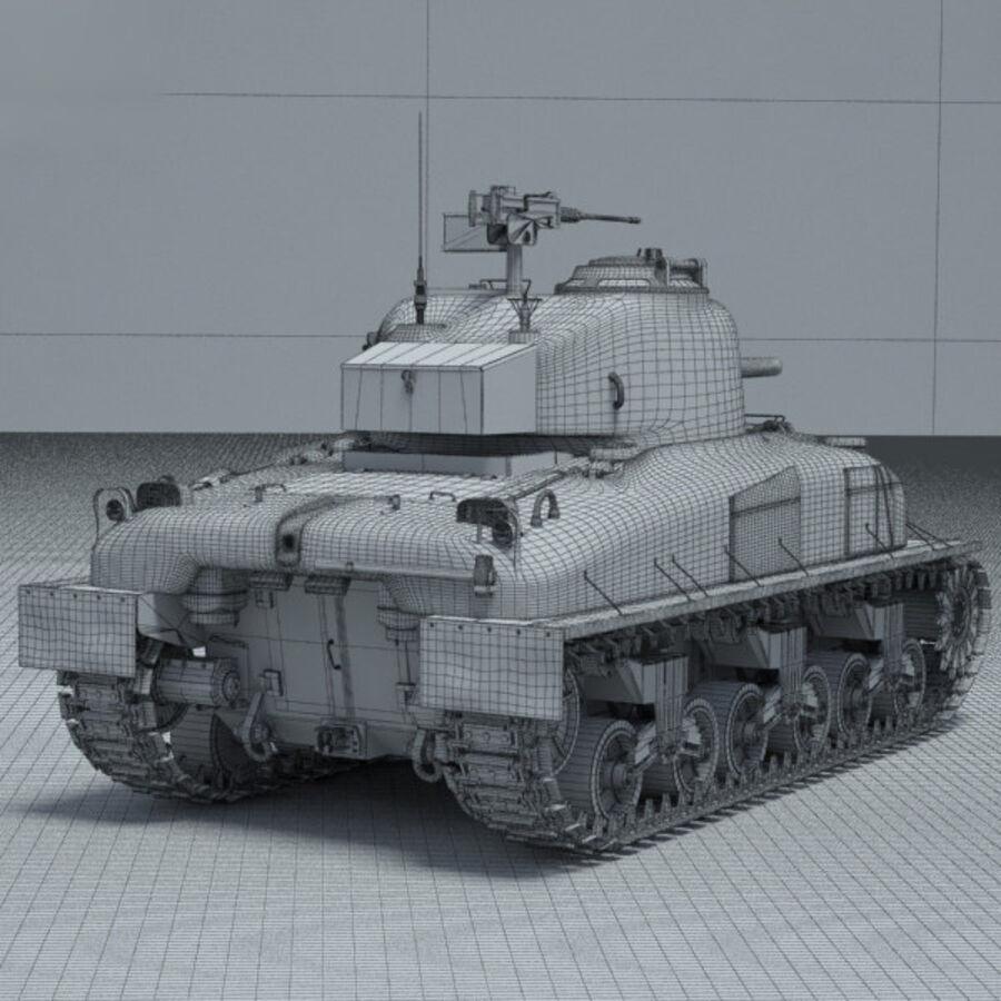 M4A1 Sherman royalty-free 3d model - Preview no. 4