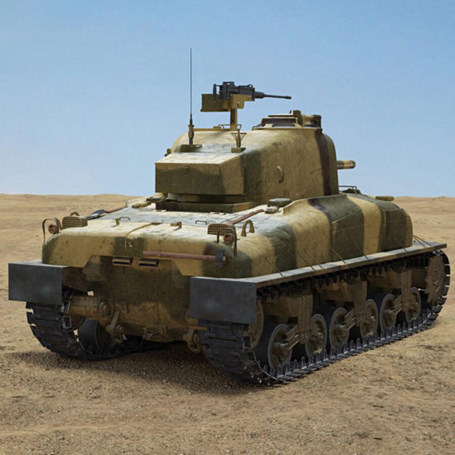 M4A1 Sherman royalty-free 3d model - Preview no. 2