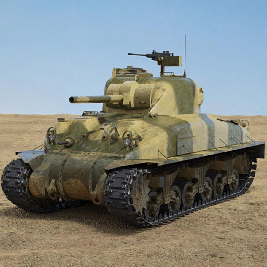 M4A1 Sherman royalty-free 3d model - Preview no. 1