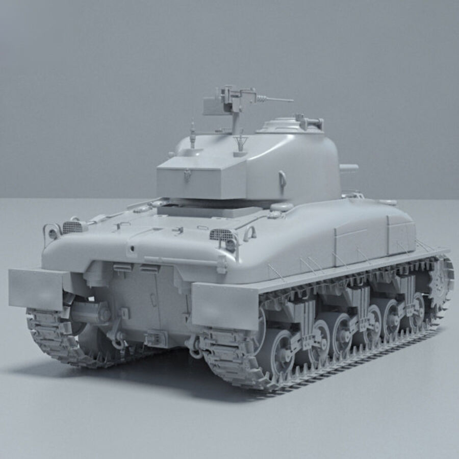 M4A1 Sherman royalty-free 3d model - Preview no. 12