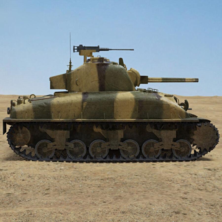 M4A1 Sherman royalty-free 3d model - Preview no. 5
