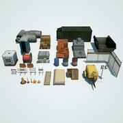 Низкополигональный конструкционный материал 3d model