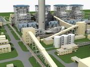 Central Térmica Eléctrica modelo 3d