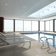 Swimming pool Indoor 1 3d model