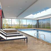Swimming Pool Indoor 2 3d model