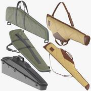 Collezione di custodie per fucili 3d model