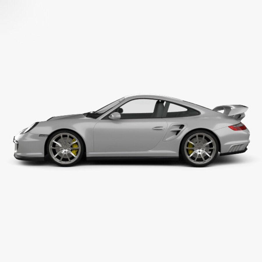 Porsche 911 GT2 (997) 2007 royalty-free 3d model - Preview no. 5