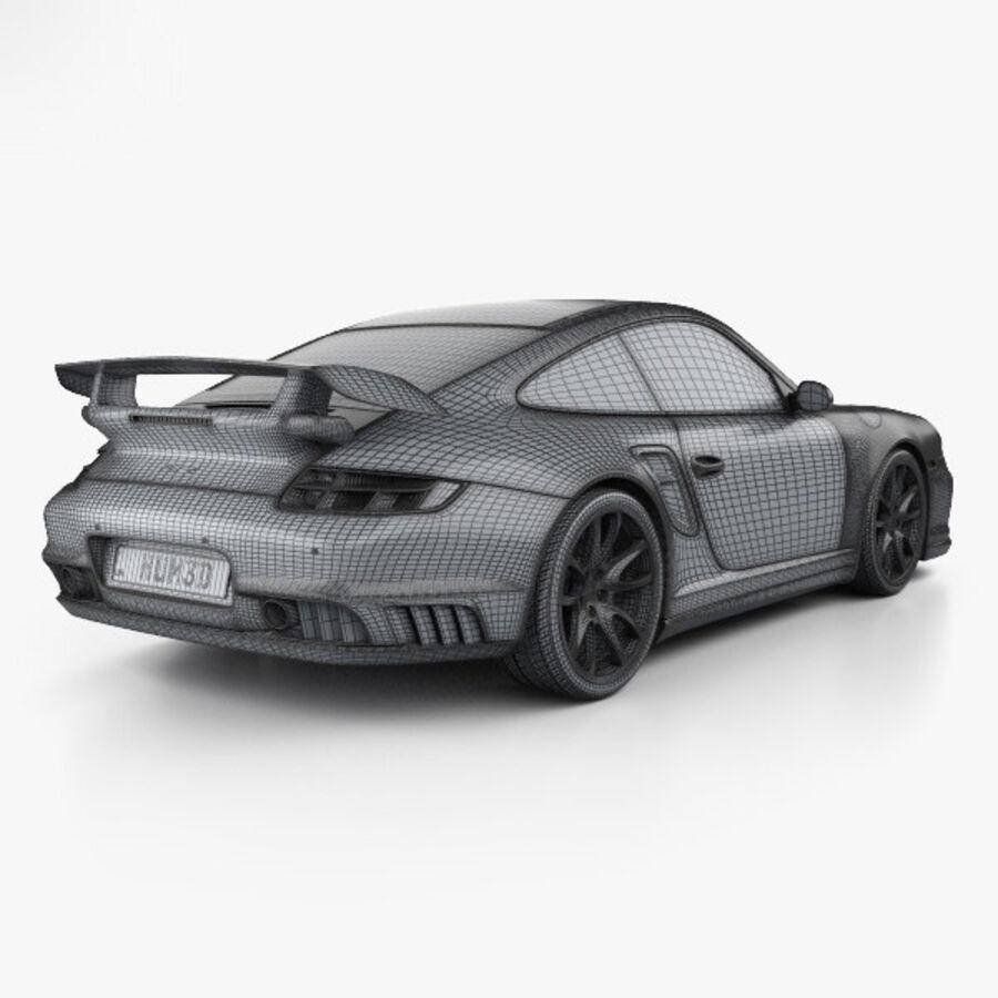 Porsche 911 GT2 (997) 2007 royalty-free 3d model - Preview no. 4