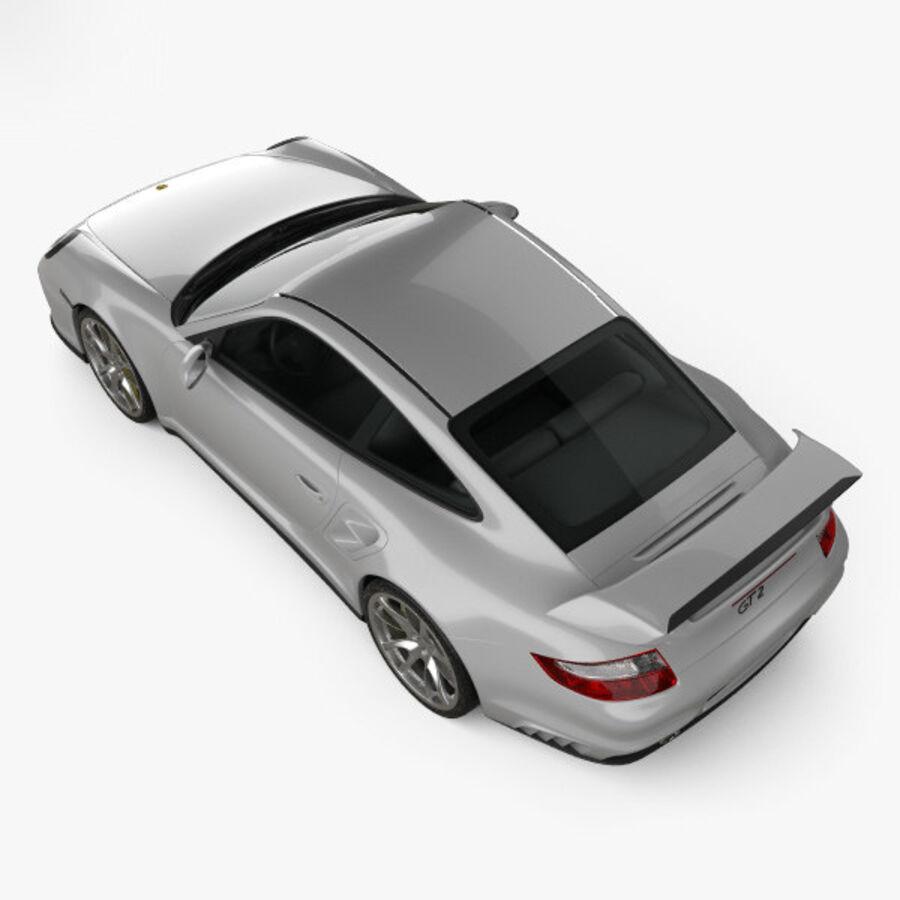 Porsche 911 GT2 (997) 2007 royalty-free 3d model - Preview no. 9