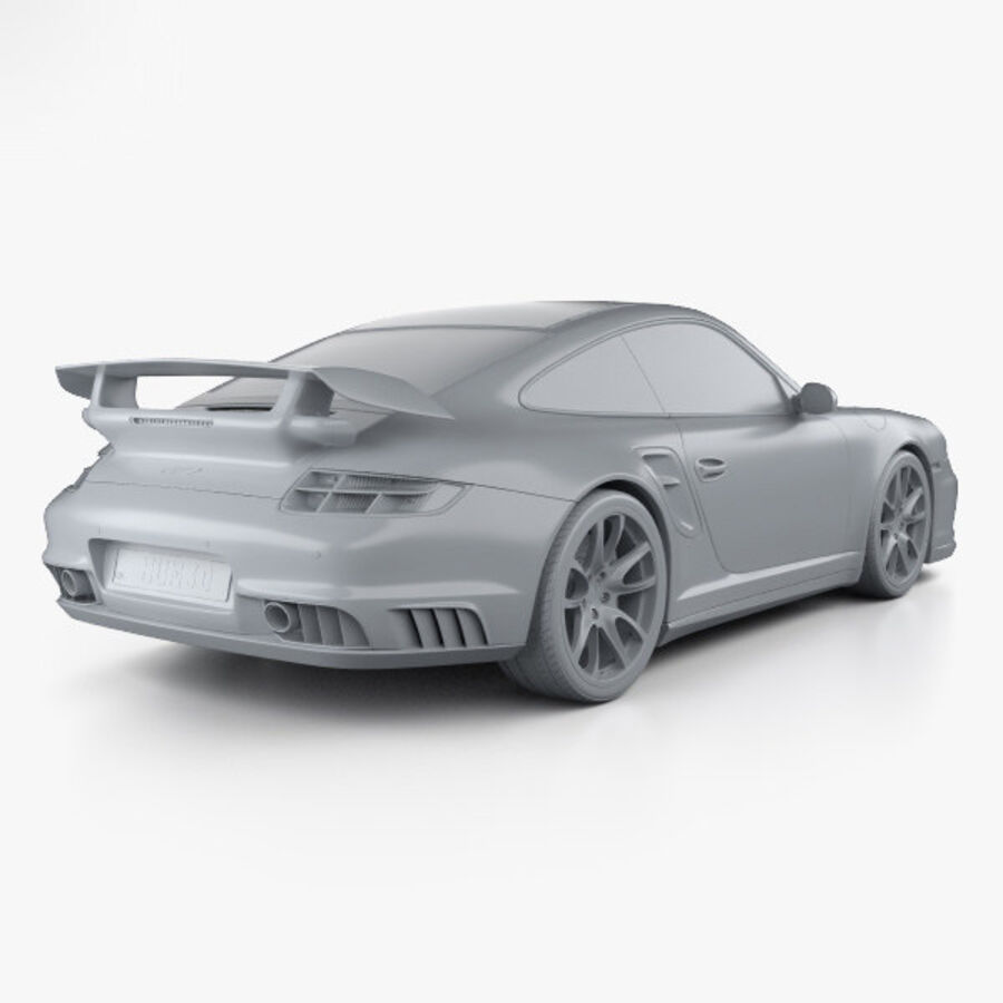 Porsche 911 GT2 (997) 2007 royalty-free 3d model - Preview no. 12