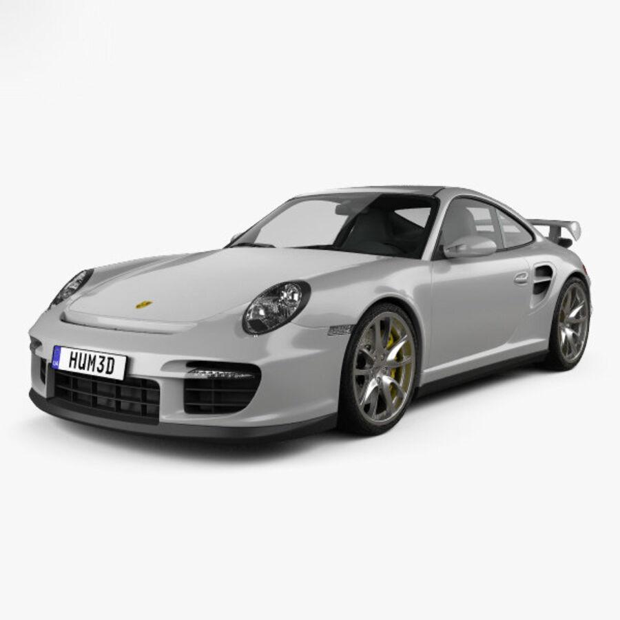 Porsche 911 GT2 (997) 2007 royalty-free 3d model - Preview no. 1