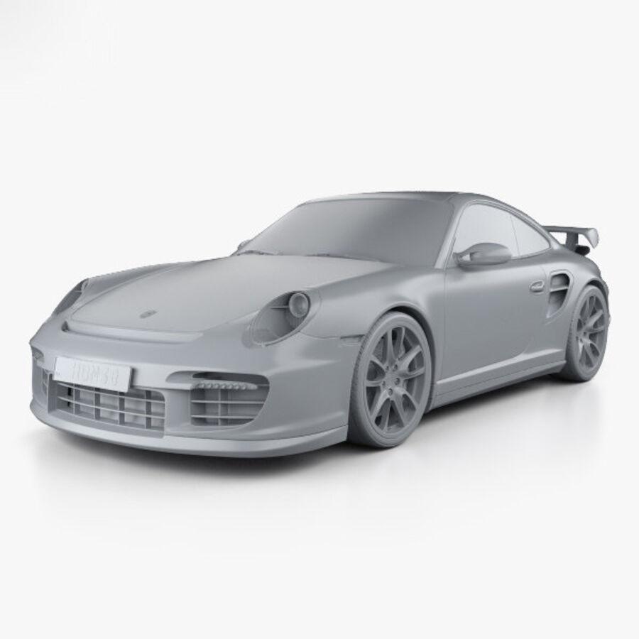 Porsche 911 GT2 (997) 2007 royalty-free 3d model - Preview no. 11