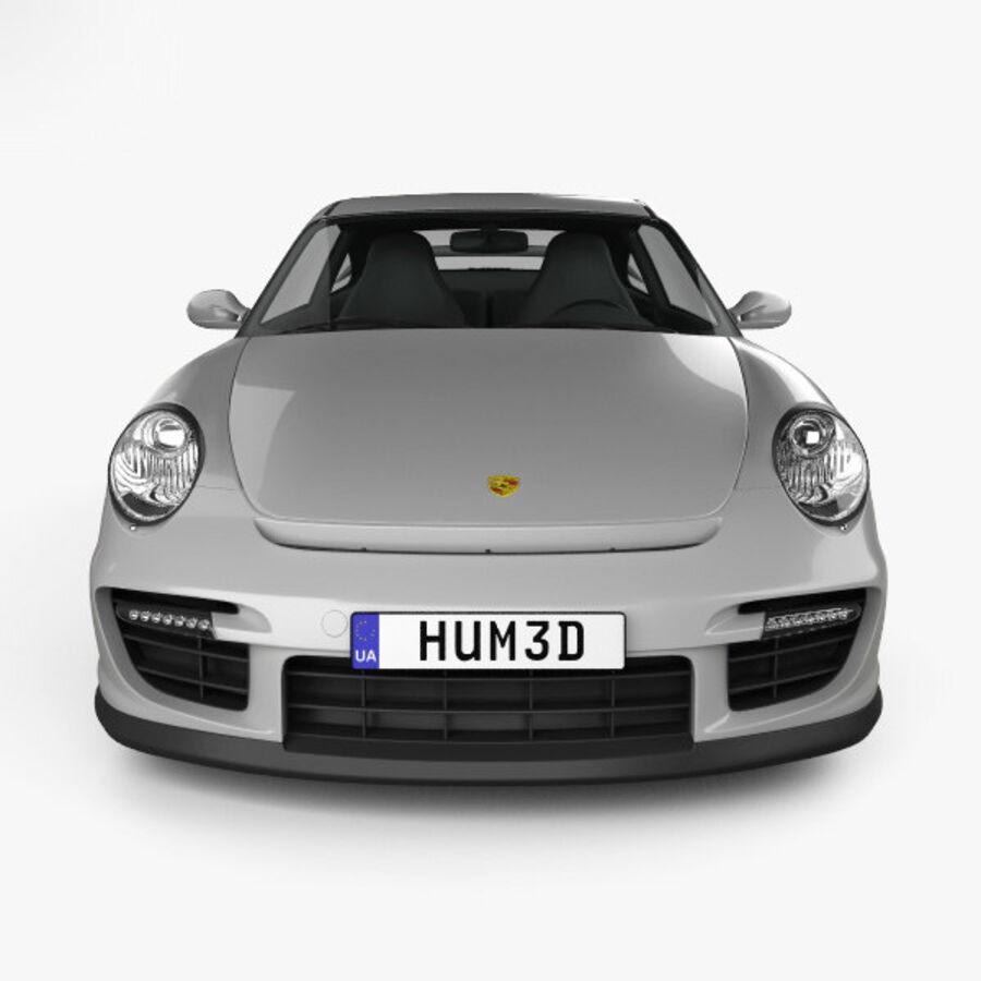 Porsche 911 GT2 (997) 2007 royalty-free 3d model - Preview no. 10