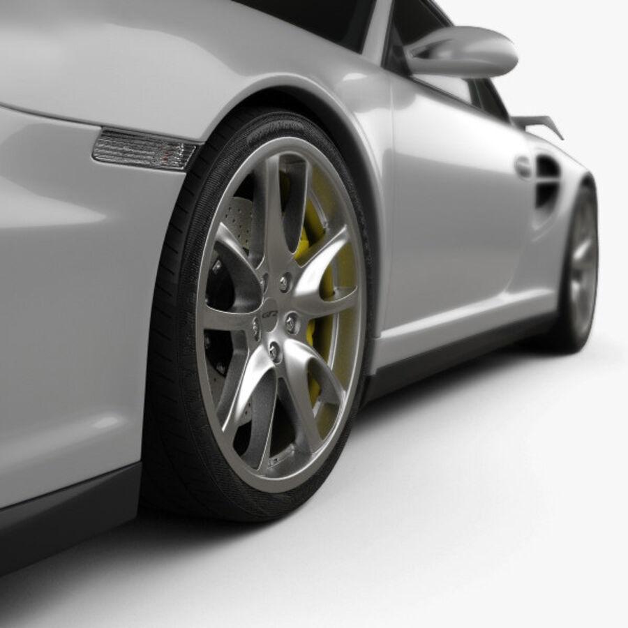 Porsche 911 GT2 (997) 2007 royalty-free 3d model - Preview no. 8