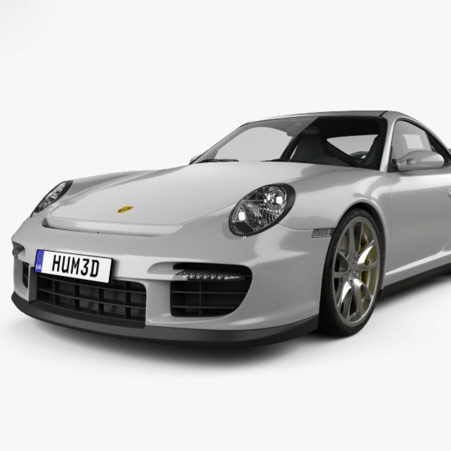 Porsche 911 GT2 (997) 2007 royalty-free 3d model - Preview no. 6