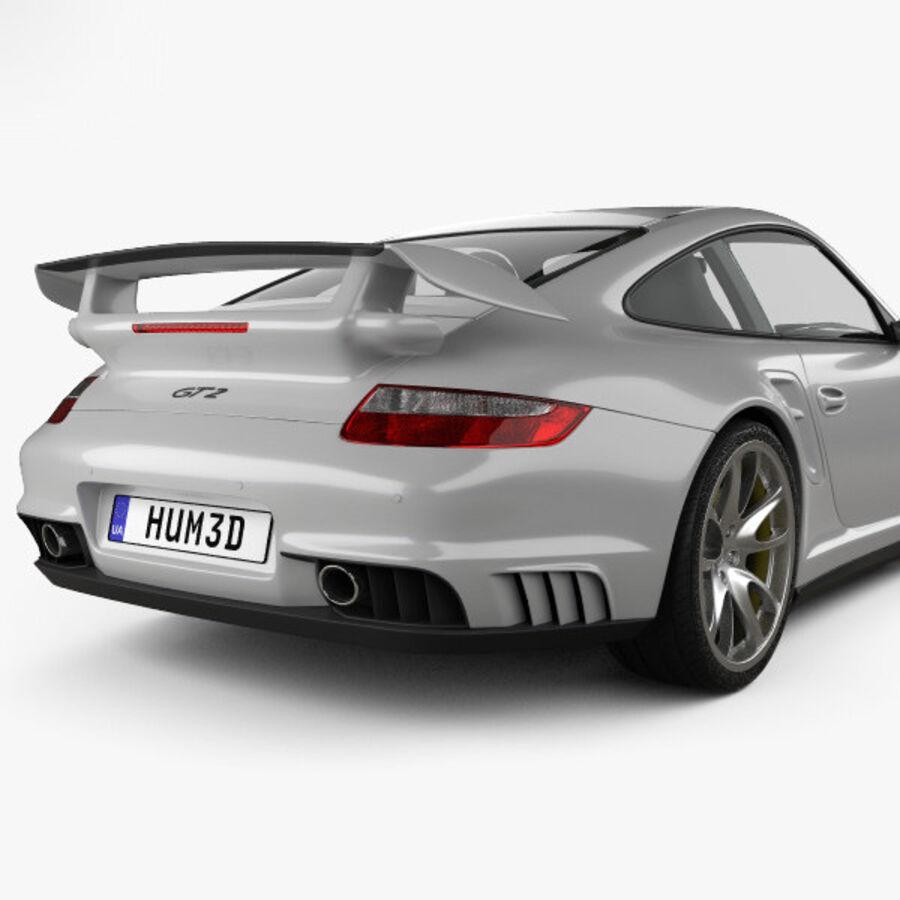 Porsche 911 GT2 (997) 2007 royalty-free 3d model - Preview no. 7