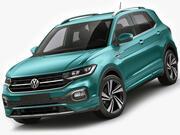 VW T-cross 2019 3d model