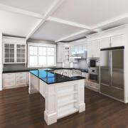 Cucina domestica 3d model