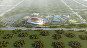 3D-arkitektonisk yttre visualisering av en 3D-modell från en stadion (1) 3d model