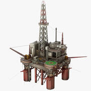 Plataforma de plataforma petrolera modelo 3d