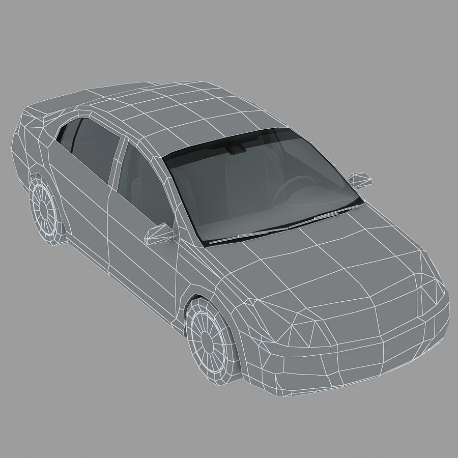 Generic Sedan Car royalty-free 3d model - Preview no. 15