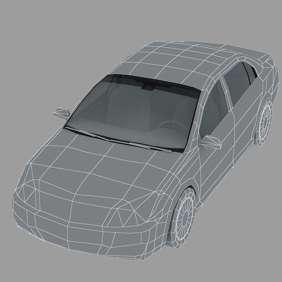 Generic Sedan Car royalty-free 3d model - Preview no. 13
