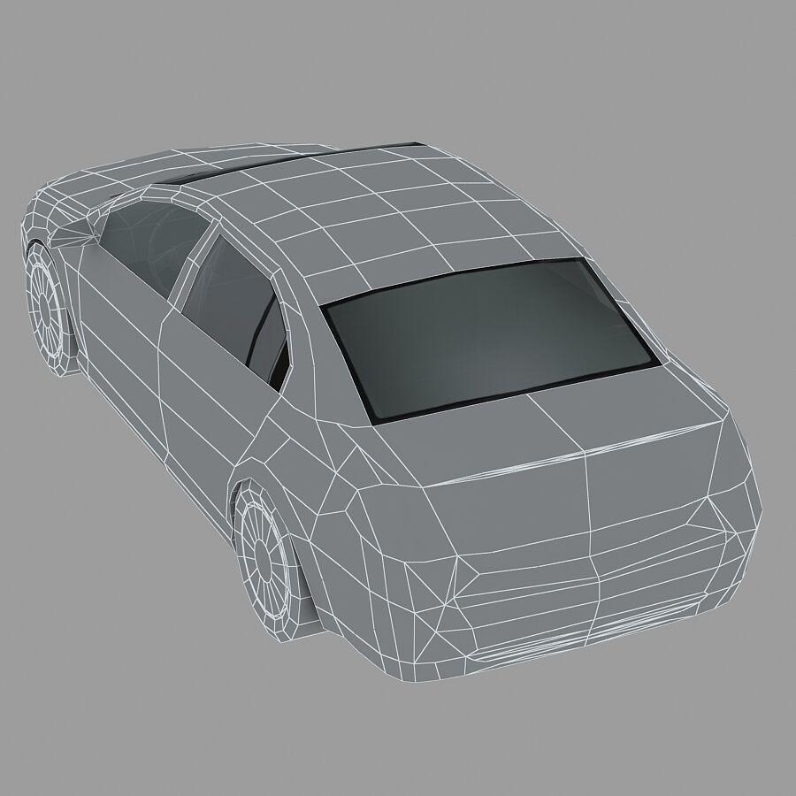 Generic Sedan Car royalty-free 3d model - Preview no. 14