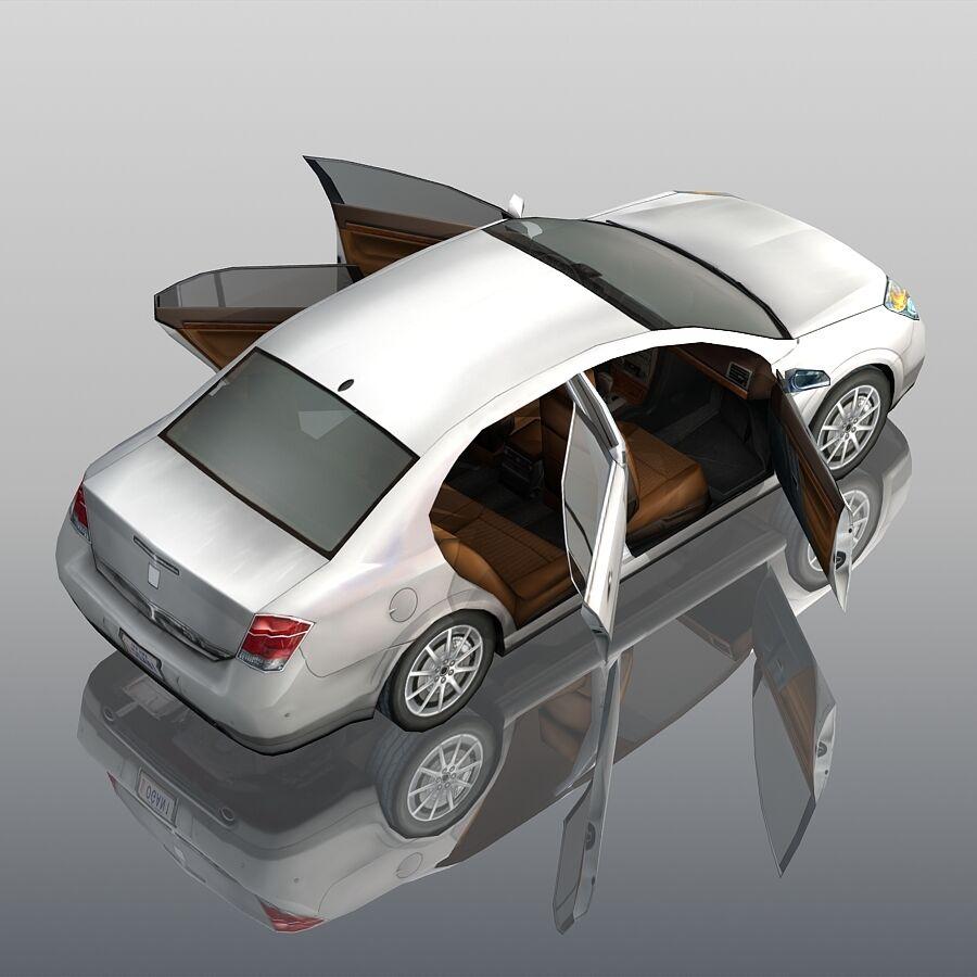 Generic Sedan Car royalty-free 3d model - Preview no. 8