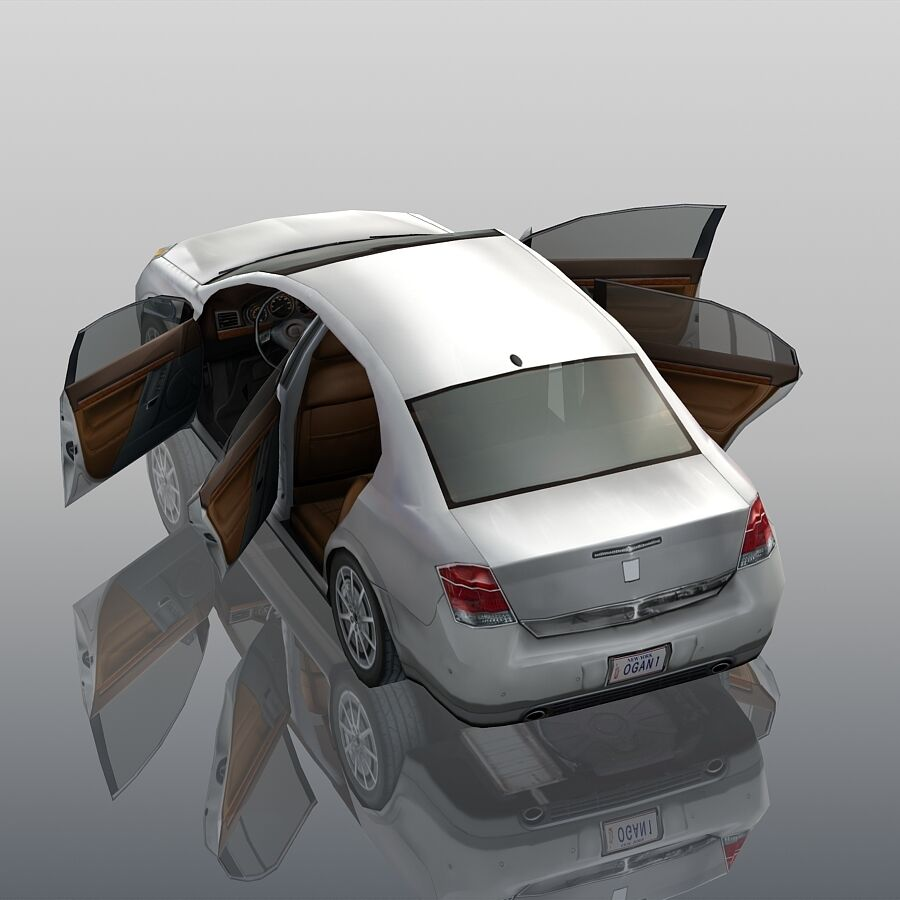 Generic Sedan Car royalty-free 3d model - Preview no. 9